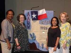 Delegates with Texas Convention Flag